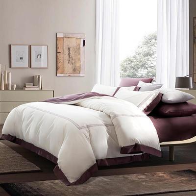 2019新款-TJ1953-60s夏朗德长绒棉四件套 床单款1.5m(5英尺)床 绅士棕