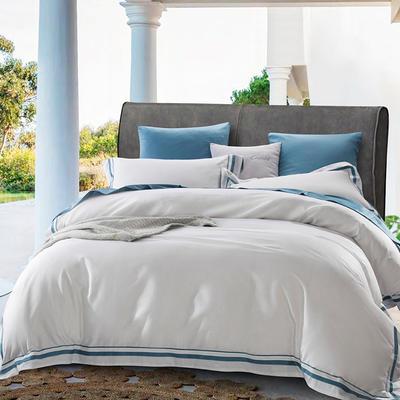 2019新款-TJ1955-60s赛尔特长绒棉四件套 床单款1.5m(5英尺)床 翡冷翠白色