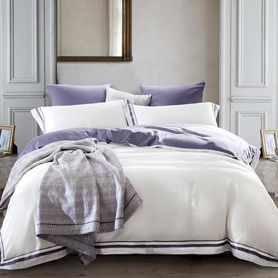 2019新款-TJ1955-60s赛尔特长绒棉四件套 床单款1.5m(5英尺)床 天青灰白色