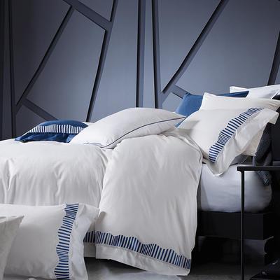 2019新款-TJ1956-60s布朗琪长绒棉四件套 床单款1.8m(6英尺)床 雅致白