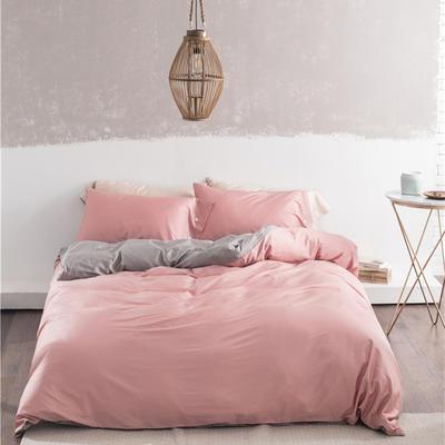 2019新款-60s利丝长绒棉双拼四件套 床单款1.5m(5英尺)床 沙粉