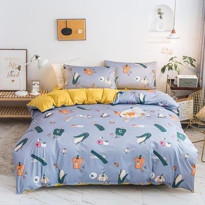 2020新款针织印花小版四件套 1.2m床单款三件套 蔬菜乐园