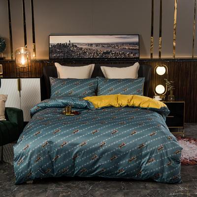 2020新款针织印花小版四件套 1.2m床单款三件套 埃克特