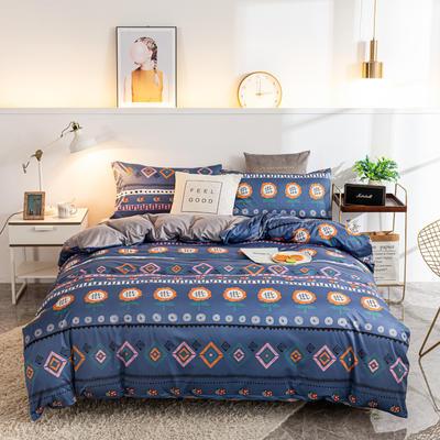 2020新款针织印花小版四件套 1.5m床单款四件套 向日葵