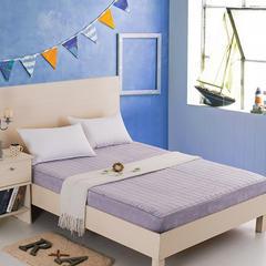 (总)清单家纺 水晶绒床笠床垫加厚保暖防静电夹棉床罩 90*200cm 雪青