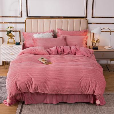 2020新款-丽丝绒四件套简爱系列 1.5m床单款四件套 粉色