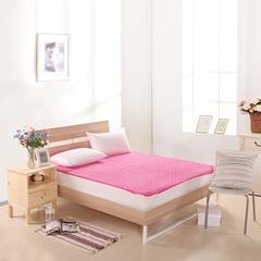 床垫床褥系列    珊瑚绒床垫 100x200cm 玫红
