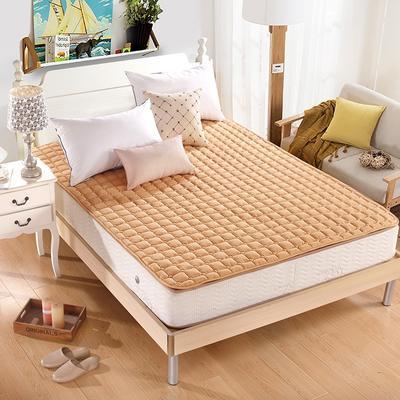 水洗折叠薄榻榻米床垫床褥子1.5m床双人1.8m床学生垫被单人经济型 0.9m(3.3英尺)床 驼色