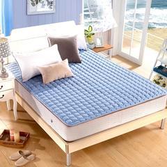 水洗折叠薄榻榻米床垫床褥子1.5m床双人1.8m床学生垫被单人经济型 0.9m(3.3英尺)床 蓝色