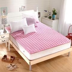 水洗折叠薄榻榻米床垫床褥子1.5m床双人1.8m床学生垫被单人经济型 0.9m(3.3英尺)床 粉色