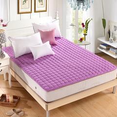 水洗折叠薄榻榻米床垫床褥子1.5m床双人1.8m床学生垫被单人经济型 0.9m(3.3英尺)床 紫色