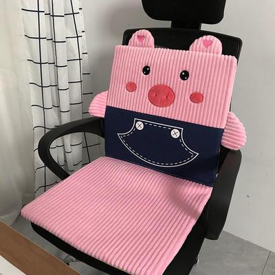 2020新款电加热可拆洗坐垫加热垫办公室插电热毯定时发热坐垫座椅取暖神器实拍版 85*45*3cm ±1cm 牛仔猪