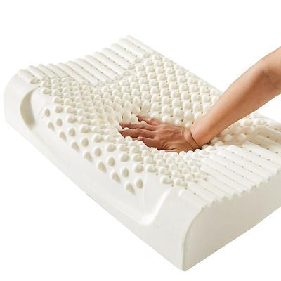 2020新款成人乳胶枕儿童乳胶枕颗粒按摩乳胶枕A品乳胶枕 枕套枕芯 成人按摩枕60*40*10/12(含内外套)