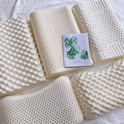 2020新款成人乳胶枕儿童乳胶枕颗粒按摩乳胶枕A品乳胶枕枕套枕芯 实拍版 成人平面枕 60*40*10/12(含内外套)