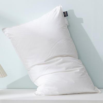 2020新款全棉羽丝绒枕头枕芯 白色 基础双针枕48*74*15cm