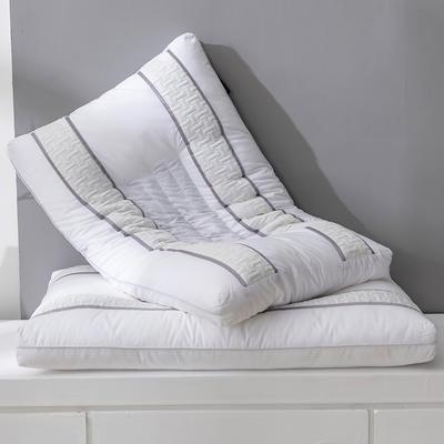 2020新款全棉决明子荞麦枕立体针织棉羽丝绒枕头枕芯 白色决明子荞麦枕48*74cm±2