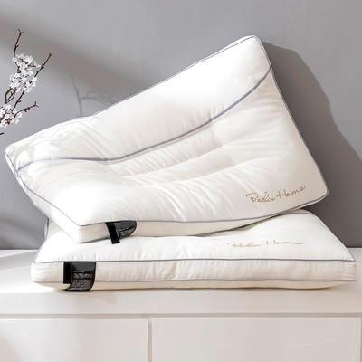 2020新款全棉提花镶钻羽丝绒枕头枕芯 白色 提花镶钻枕 48*74*15cm