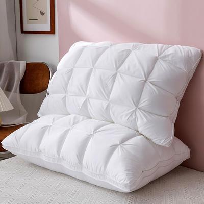 2020新款立体羽丝绒面包枕头枕芯 白色 立体面包枕 48*74*15cm