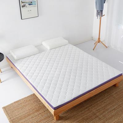 2021新款4D空气纤维床垫三折床垫成人床垫学生床垫宿舍床垫可折叠的床垫(大床图) 120*200*4.5cm 乳白色
