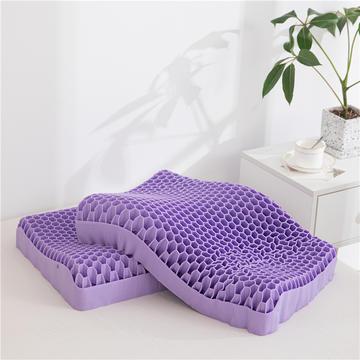 2021新款无压枕TPE果胶枕护颈枕凝胶枕头黑科技无压枕紫糯护颈蜂巢枕芯