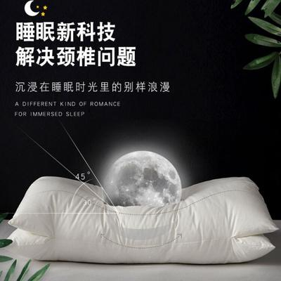 2021新款全棉双层止鼾枕双层spa按摩枕u型枕枕头枕芯42*68cm /只 白色