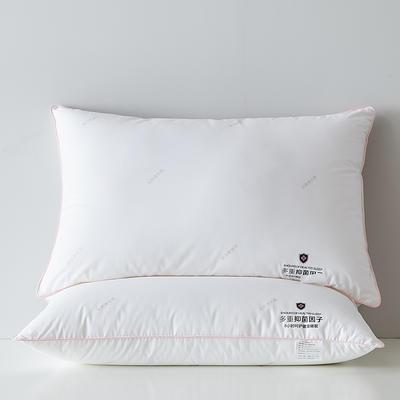 2021新款全棉抑菌因子枕枕头枕芯48*74cm/只 小粉边(中枕)