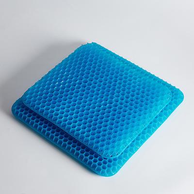 2021新款TPE透气凉感凝胶坐垫 赠送外套 方形42-37-3.5cm 凝胶坐垫