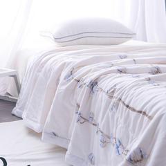 2018新款双层纱棉花夏被 空调被 被芯- 白色 150x200cm 白色