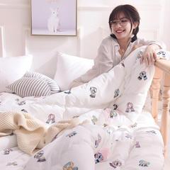 2018新款 全棉磨毛暖冬被 220x240cm 围巾