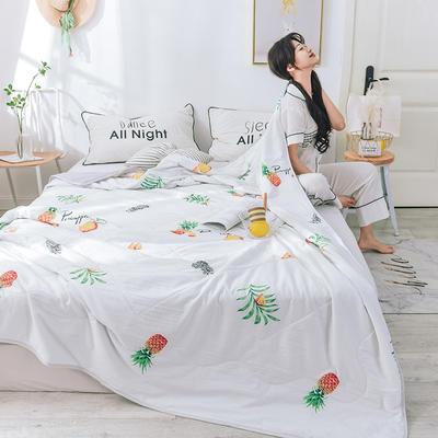 网红小清新水洗棉清新夏被 150x200cm 菠萝