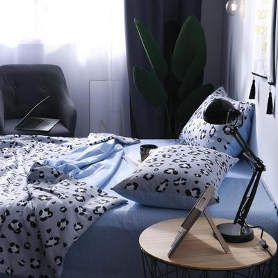 全棉豹纹多规格夏被 150x200cm 蓝豹纹