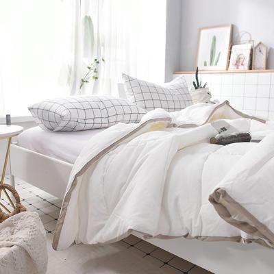 全棉日式水洗棉春秋被 150x200cm 白色