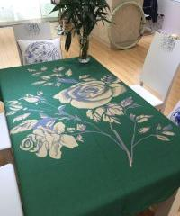简约个性时尚3D立体效果印花桌布餐桌布台布 布艺定制 140*100cm 夜玫瑰