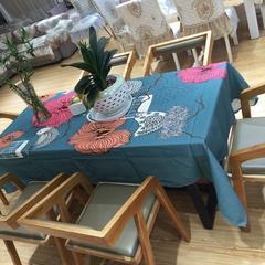 简约个性时尚3D立体效果印花桌布餐桌布台布 布艺定制 140*100cm 自由自在
