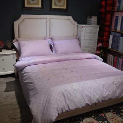 40支匹马棉绣花系列 2.0m(6.6英尺)床 一揽芳华  星光紫