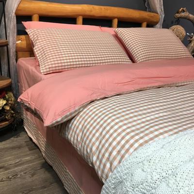 水洗棉简约 2.0m(6.6英尺)床 玉小格