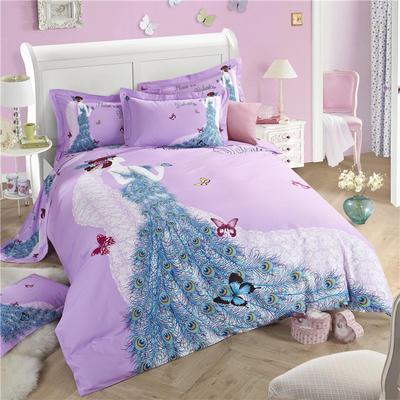 意尚风情  磨毛四件套 标准 完美爱人(紫)