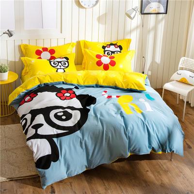 意尚风情  磨毛卡通时尚款四件套 标准 躲猫猫