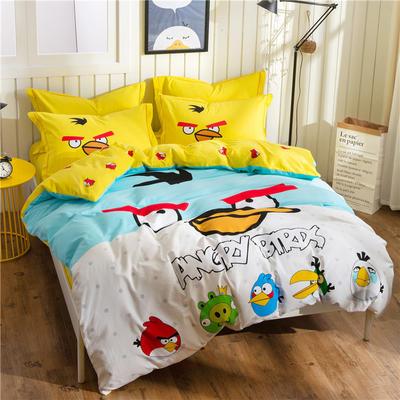 意尚风情  磨毛卡通时尚款四件套 标准 愤怒的小鸟