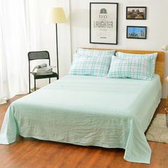 水洗棉印花四件套(单品/床单) 1.6*2.3m 法式风情-绿
