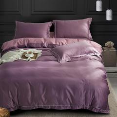 四件套18年新款·绣花水洗真丝四件套 2.0m床 床笠款 黛芙妮(紫)