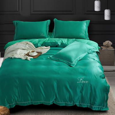 四件套18年新款·绣花水洗真丝四件套 1.5-1.8m床 床单款 夏洛特(绿)