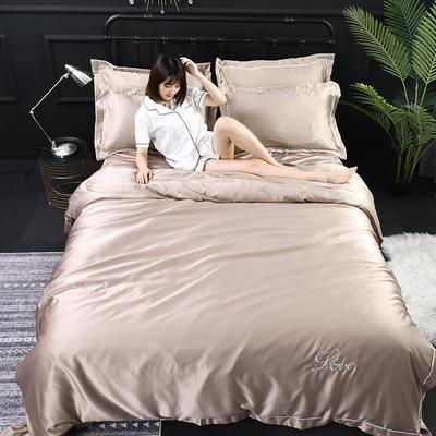 2019新款-双面水洗真丝四件套 1.8m(6英尺)床 璐易丝