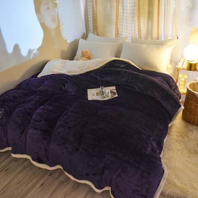 新款多功能可拆洗被子被套毯A版金貂绒B版贝贝绒 150x200cm单被套 1.8*2.2m 绛紫