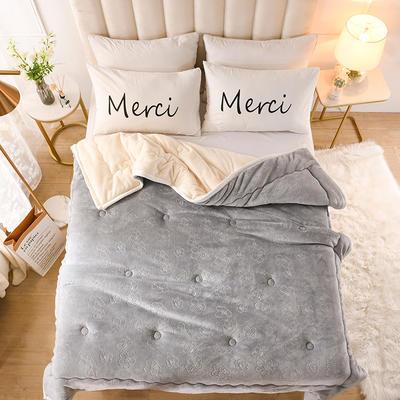 2020新款梅花抗菌毯毛毯毯子 150cmX200cm毯子 灰