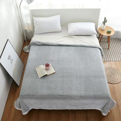 2020新款梅花系列双层贝贝绒毯毯子 150cmx200cm毛毯 灰