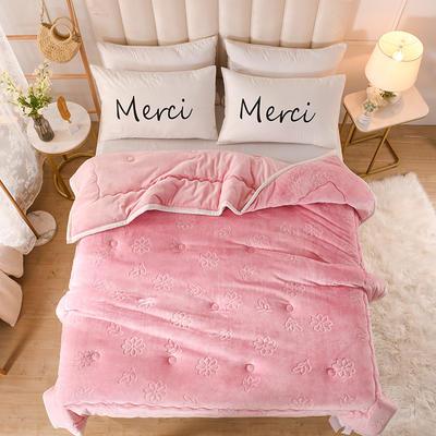 2020新款小雏菊石墨烯毯毛毯毯子 150cmx200cm毛毯 粉