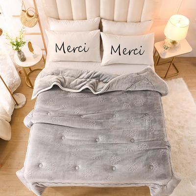 2020新款小雏菊石墨烯毯毛毯毯子 150cmx200cm毛毯 灰