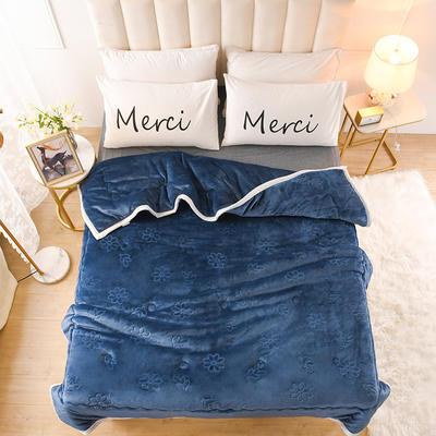 2020新款小雏菊石墨烯毯毛毯毯子 150cmx200cm毛毯 蓝