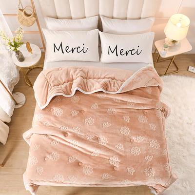 2020新款小雏菊石墨烯毯毛毯毯子 150cmx200cm毛毯 香槟